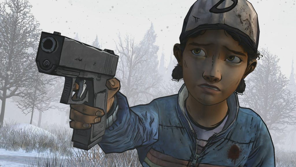 clementine-the-walking-dead-gun