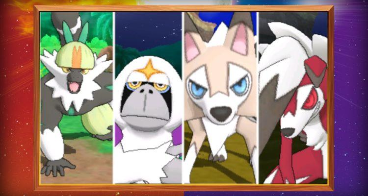 pokemon sun and moon version exclusives