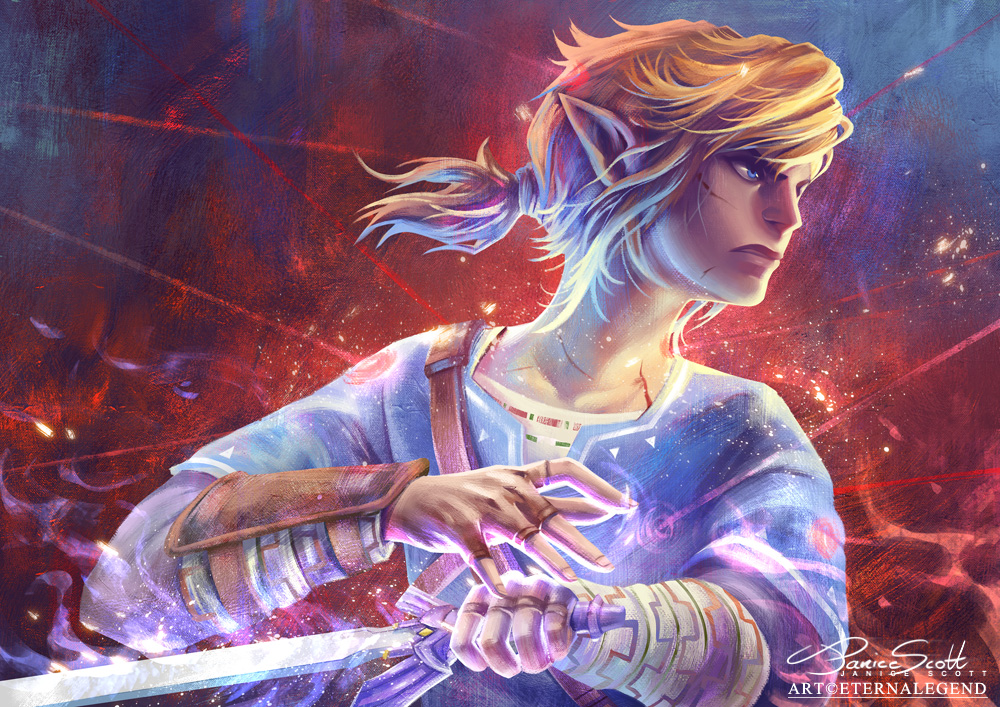 Link Fanart From Breath Of The Wild Shows His Hateno Warrior