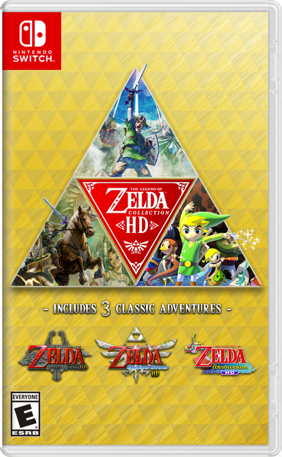 Beautiful Mockup of a Zelda HD Collection for Nintendo Switch