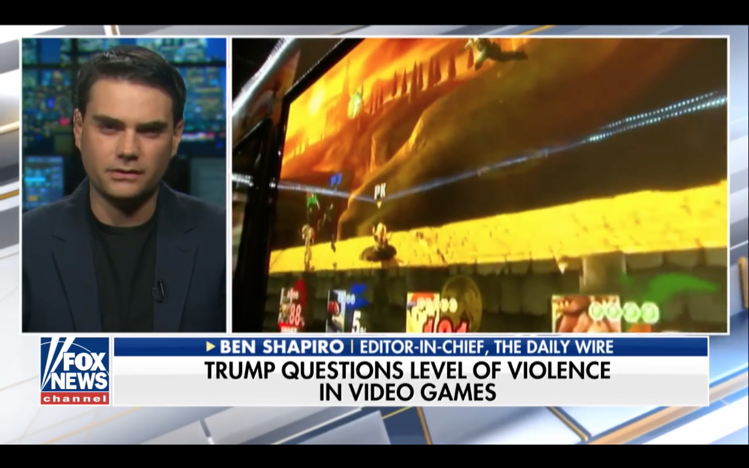 Fox News Thinks Super Smash Bros Causes Violence