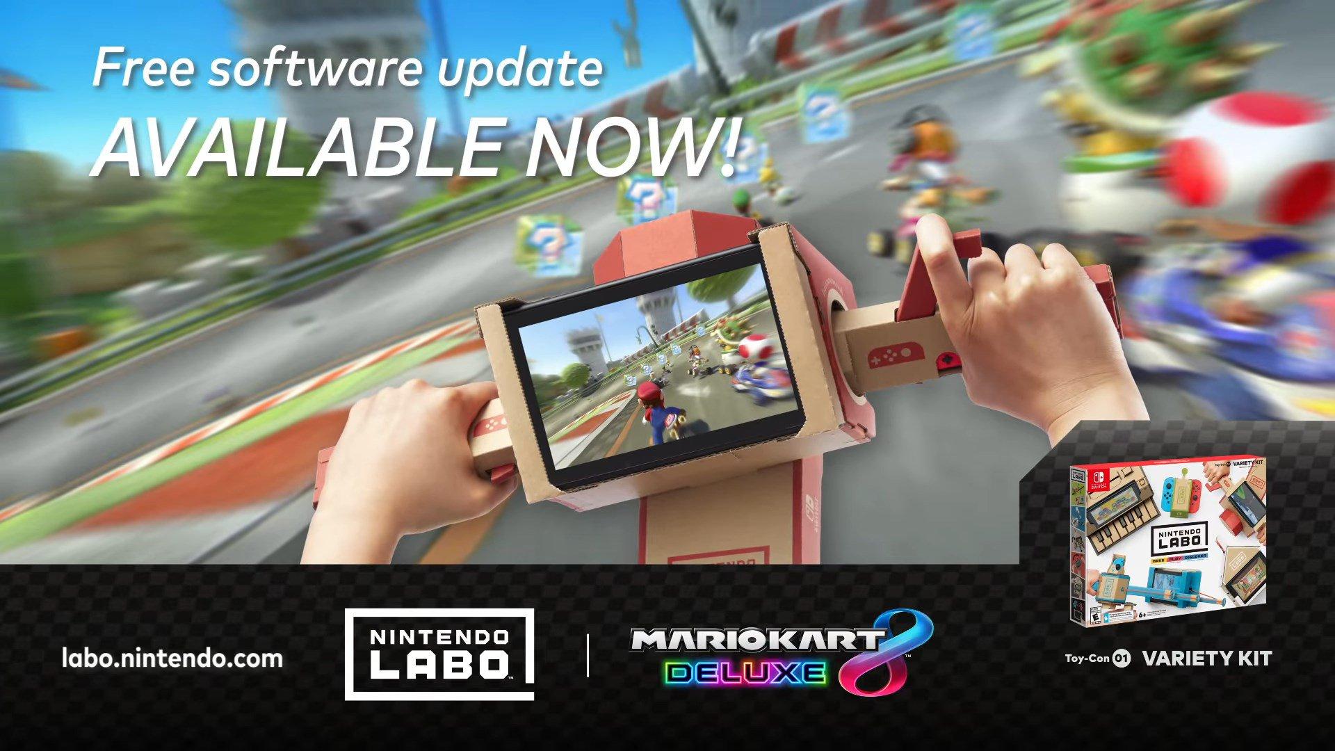 Mario Kart 8 Deluxe to Support Nintendo Labo