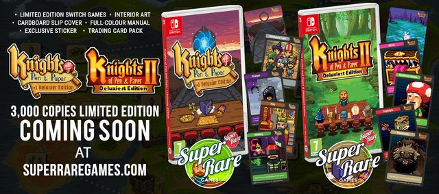 Knights of Pen and Paper Physical Release