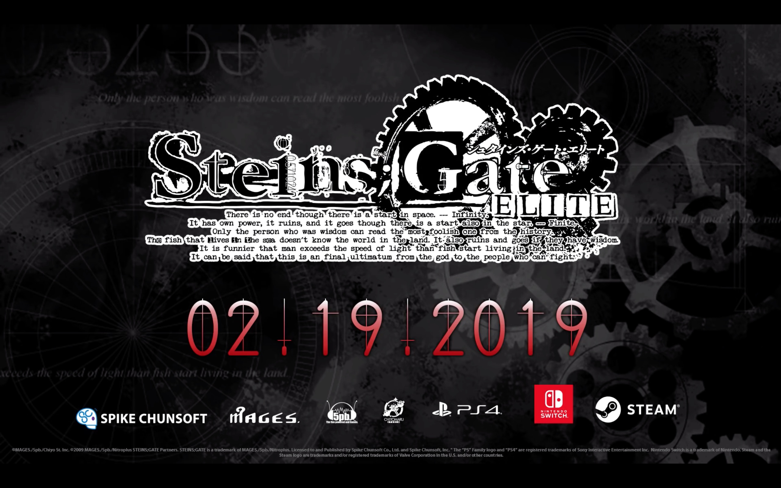Steins;Gate Elite Story Trailer