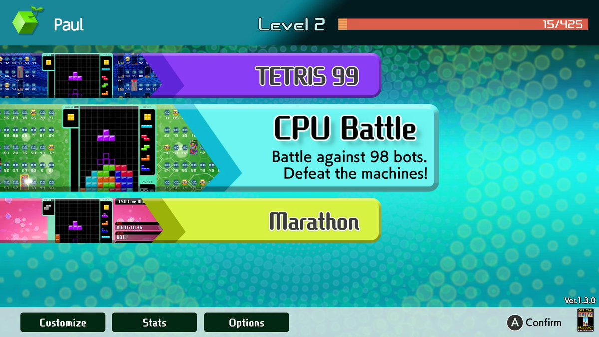 Tetris 99 DLC
